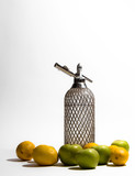 Old retro syphon with fruits