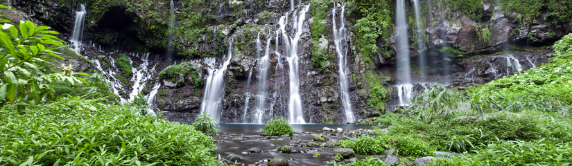 Panorama de la grande cascade de Langevin - Réunion