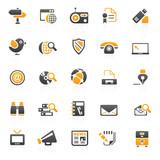 Fototapety orange communication icons - 7