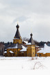Rural orthodox church in suburb of Moscow