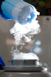Container with liquid nitrogen, lot of vapour - 30656376