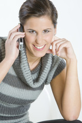 portrait of telephoning woman