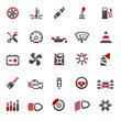 red car2 icons - set 13