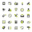 green communication icons - 15