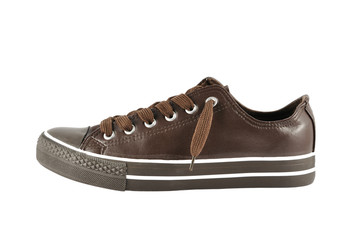 brown sneaker isolated on white background