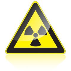 Warnung vor radioaktiven Stoffen oder ionisierenden Strahlen