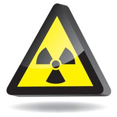 Warnung vor radioaktiven Stoffen oder ionisierenden Strahlen 3d