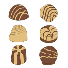 chocolate pralines collection