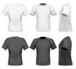 Vector illustration. Men's t-shirt design template