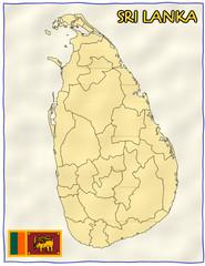 Sri Lanka political division national emblem flag map
