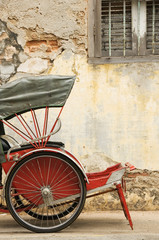 Old Red Trishaw 1, George Town, Penang