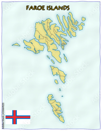 Faroe Islands political division national emblem flag map