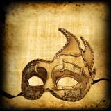 Retro postcard with venetian mask - 30664957
