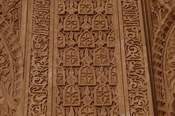 stuc gravé au Maroc