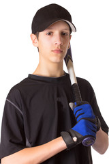 Teenage Boy Baseball Player