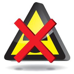 Schild Atomkraft Verbot 3d