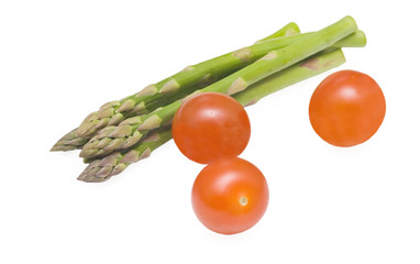Asparagus and tamatos