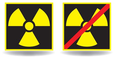 Schild Atomkraft - Verbot - Nein - Set