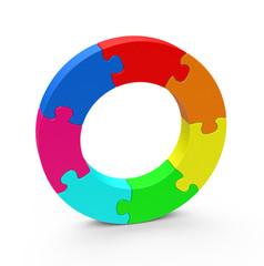 Farbkreiselpuzzle
