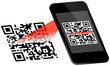 Smartphone Scanning QR-Code Scan On Display