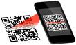 Smartphone Scanning QR-Code Scan On Display