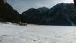 Blick über den verschneiten Attersee