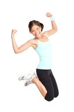Fitness woman jumping - 30674332