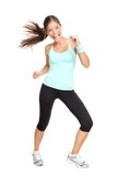 Fototapety fitness trainer woman dancing