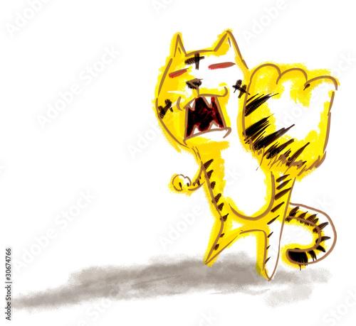 力を込める虎