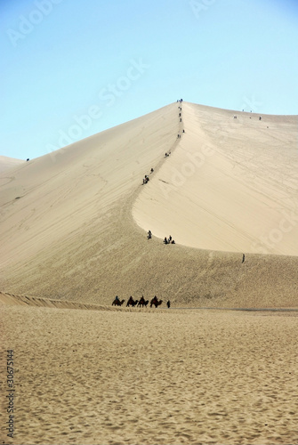 Singing sands mountain in dunhuang of china