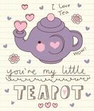 vector cute little teapot