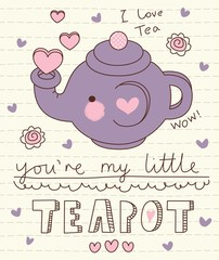 vector cute little teapot