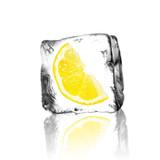 Fototapety Zitrone im Eisblock