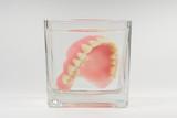 Prothese im Wasserglas