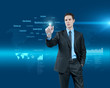 Choosing business solutions in holographic virtual interface