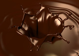 Astonishing chocolate splash