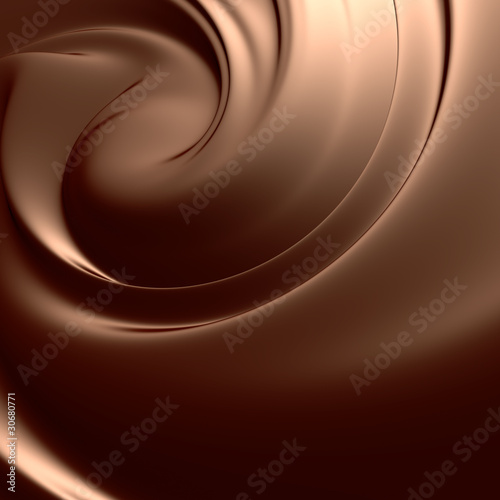 Fototapeta Astonishing chocolate swirl