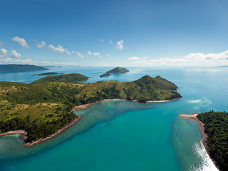 Aerial view of the Whitsunday Islands
