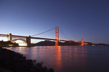 San Francisco's Golden Gate Bridge at Dusk