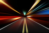 Fototapety abstract night acceleration speed motion