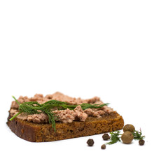 Bread with fresh pate