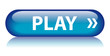 PLAY Web Button (watch video view media player live music blue)