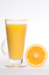 Refreshing fresh home made orange drink