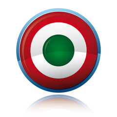 Round glossy icon - Italy