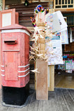 Traditional Thai old postbox poster