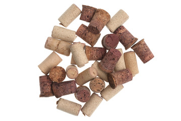 Used corks from bottles guilt