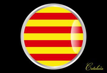 bandera de cataluña en boton