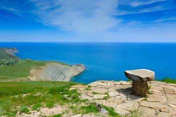 Stone seat above the sea