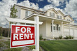 For Rent Real Estate Sign in Front of House - 30691356