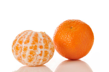 tangerines, peeled and whole